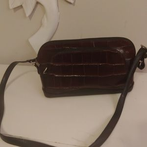 Brighton croc-embossed leather purse